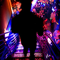 Life of the party at a nightclub.  Photo by N.Scott Trimble