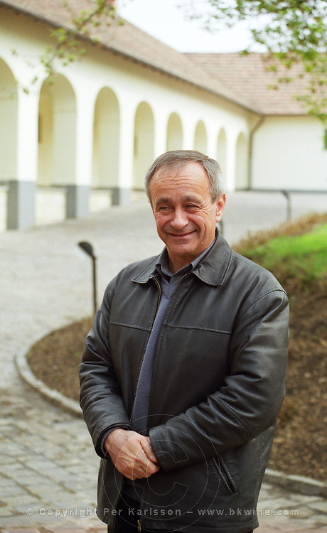 """The Kiralyudvar winery in Tarcal: Isztvan Szepsy, manager, wine maker and co-owner. Kiralyudvar (meaning """"King's Court"""")is run by Istvan Szepsy, considered maybe the best winemaker in Tokaj. he also makes Tokaj under his own name.  Credit Per Karlsson BKWine.com"""