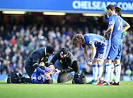 Chelsea's Eden Hazard gets injured during the Premier League match at Stamford Bridge Stadium, London. Picture date December 11th, 2016 Pic David Klein/Sportimage