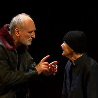 Peter Blasko (L) as King Lear and Mari Torocsik (R) as the fool in William Shakespeare's King Lear premiere in Hungarian National Theatre directed by Laszlo Bocsardi. Budapest, Hungary. Wednesday 07 February 2007. ATTILA VOLGYI