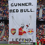 A Thierry Henry banner before the start of play during the New York Red Bulls Vs Arsenal FC,  friendly football match for the New York Cup at Red Bull Arena, Harrison, New Jersey. USA. 26h July 2014. Photo Tim Clayton