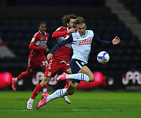 Preston North End's Brad Potts battles with Middlesbrough's Jonathan Howson<br /> <br /> Photographer Dave Howarth/CameraSport<br /> <br /> The EFL Sky Bet Championship - Preston North End v Middlesbrough - Wednesday 9th December 2020 - Deepdale - Preston<br /> <br /> World Copyright © 2020 CameraSport. All rights reserved. 43 Linden Ave. Countesthorpe. Leicester. England. LE8 5PG - Tel: +44 (0) 116 277 4147 - admin@camerasport.com - www.camerasport.com