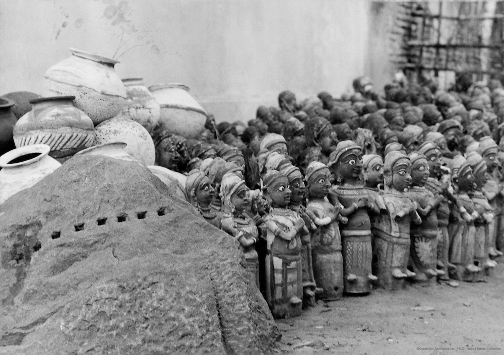 Kali Goddess Offerings, Madurai, India, 1929