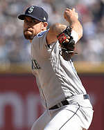 CHICAGO - APRIL 06:  Brandon Brennan #65 of the Seattle Mariners pitches against the Chicago White Sox on April 6, 2019 at Guaranteed Rate Field in Chicago, Illinois.  (Photo by Ron Vesely)  Subject:  Brandon Brennan
