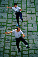 Early morning tai chi, Hong Kong Park, Central district, Hong Kong, China