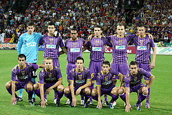 First line (from L): Mitja Viler, Ales Mertelj, Goran Cvijanovic, Dejan Mezga and Armin Bacinovic, 2nd line: Matej Radan, Sinisa Andelkovic,  Marcos Tavares, Aleksander Rajcevic, Dalibor Volas and Josip Ilicic of Maribor during the UEFA Europa League play-offs second leg match between NK Maribor and US Citta di Palermo at Ljudski vrt Stadium on August 26, 2010 in Maribor, Slovenia. Maribor defeated Palermo 3-2 but Palermo won in total 5-3 and qualified for Europa league. (Photo by Marjan Kelner / Sportida)
