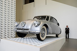 Tatra 87 motor car on display at Pinakothek Museum in Munich Germany