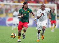 Fotball<br /> Foto: DPPI/Digitalsport<br /> NORWAY ONLY<br /> <br /> FOOTBALL - AFRICAN CUP OF NATIONS 2008 - 1/2 FINAL - 7/02/2008 - GHANA v CAMEROON - RIGOBERT SONG (CAM) / MANUEL AGOGO (GHA)<br /> <br /> Afrika mesterskapet<br /> Ghana v Kamerun