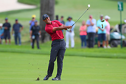August 26, 2018 - Paramus, NJ, U.S. - PARAMUS, NJ - AUGUST 26:  Tiger Woods of the United States plays his shot from the 16th fairway   during the final round of The Northern Trust on August 26, 2018 at the Ridgewood Championship Course in Ridgewood, New Jersey. (Photo by Rich Graessle/Icon Sportswire) (Credit Image: © Rich Graessle/Icon SMI via ZUMA Press)