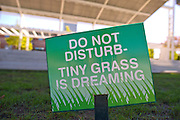 A humorous sign at The Guthrie Green in The Brady District, on Saturday, October 19, 2013, in Tulsa, Okla.<br /> <br /> guthriegreen.com