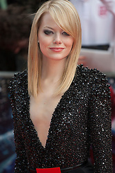© licensed to London News Pictures. London, UK 18/06/2012. Emma Stone attending to the premiere of The Amazing Spider-Man today in Leicester Square. Photo credit: Tolga Akmen/LNP