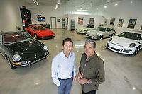 Tony Principe, owner, real estate developer, Finish Line Auto Storage and his dad Rick are selling car condos in Westlake Village, CA. Nov. 1, 2017.  ©David Sprague 2017