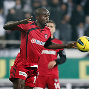 Gaziantepspor's Dany Nounkeu during their Turkish superleague soccer match Besiktas between Gaziantepspor at BJK Inonu Stadium in Istanbul Turkey on Tuesday, 05 January 2012. Photo by TURKPIX