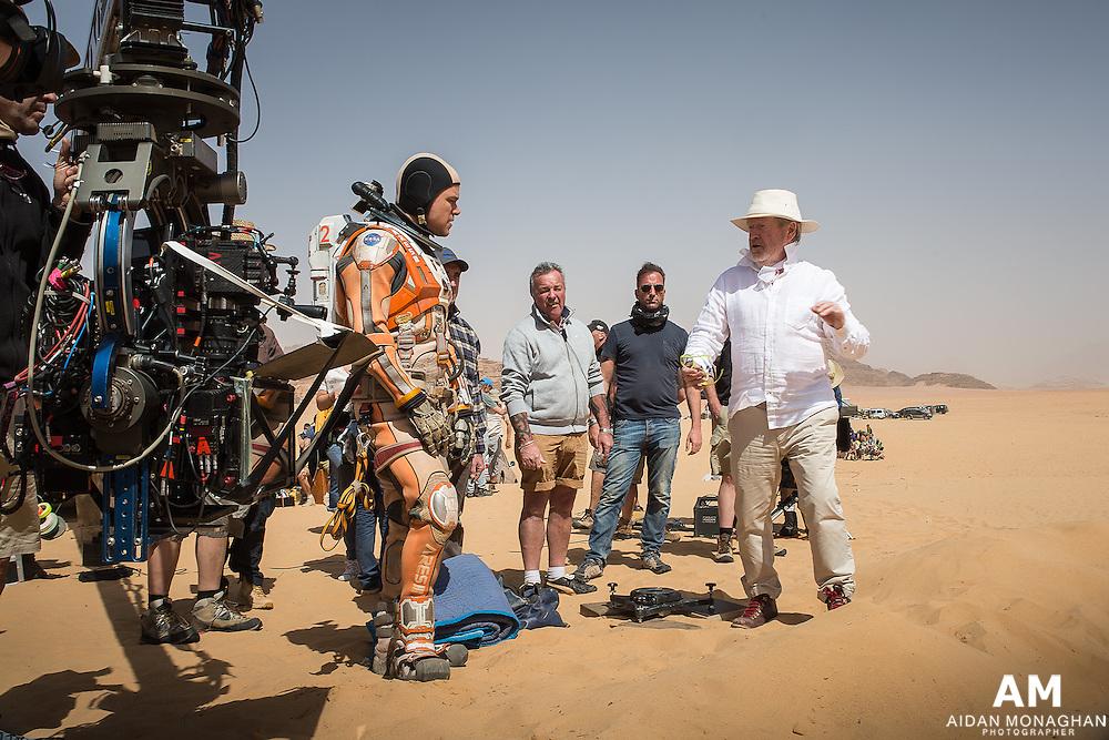 'The Martian': Inside Matt Damon and Ridley Scott's Sci-Fi Thriller<br /> Rolling stone Magazine- Ridley Scott directs Matt Damon on the set of 'The Martian' Aidan Monaghan