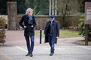 Uitvaart Mies Bouwman in een crematorium in Leusden.<br /> <br /> Op de foto: Matthijs van Nieuwkerk Marc-Marie Huijbregts