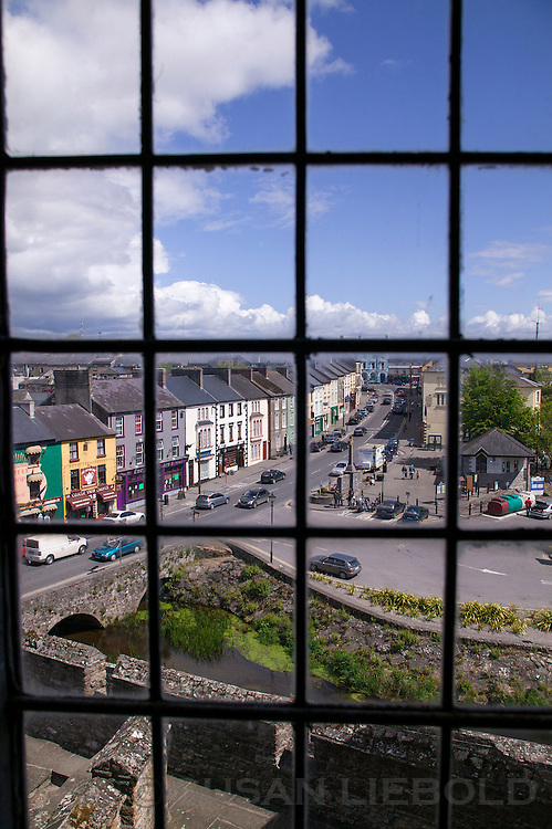 A row of building seen from Cahir Castle in Ireland.