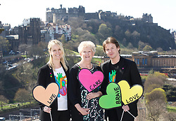 Left to right: Sam Wells (chief operating officer, Heart Research Scotland), Barbara Harpham (CEO, Heart Research Scotland), Scottish fashion designer Christopher Kane, at the launch the Heart of Scotland appeal at the Balmoral Hotel, Edinburgh. pic copyright Terry Murden @edinburghelitemedia