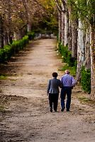 A beautiful promenade, Hotel Balneario, Alhama de Granada,Granada Province, Andalusia, Spain.