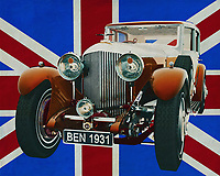 The 1931 Bentley is the sporty version of the Rolls Royce and for that time truly groundbreaking. Class and style combined with a huge 8-litre engine. Everything the nobleman could wish for at that time. Bentley produced a whole range of sporty cars that did not fit the ordinary man's budget and which always aroused awe.<br />