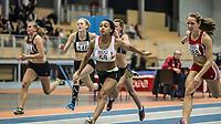 Friidrett<br /> NM Innendørs 2015<br /> Steinkjer 07.02.15<br /> Naomi Van den Broeck vinner 60 m kvinner<br /> <br /> <br /> Foto : Eirik Førde