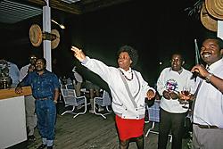 Woman Playing Darts At Nkopola Lodge