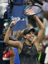 September 6, 2017 - Flushing Meadows, New York, U.S - Madison Keys wins her match on Day Ten of the 2017 US Open against Kaia Kanepi at the USTA Billie Jean King National Tennis Center on Wednesday September 5, 2017 in the Flushing neighborhood of the Queens borough of New York City. 6-3, 6-3. JAVIER ROJAS/P (Credit Image: © Prensa Internacional via ZUMA Wire)