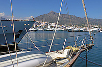 Yachts, marina, harbour, Puerto Banus, Marbella, Spain, April, 2016, 201604142405<br />