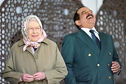 Queen Elizabeth II and the King of Bahrain Hamad bin Isa Al Khalifa during the Royal Windsor Horse Show, which is held in the grounds of Windsor Castle in Berkshire.