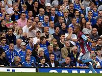 Photo: Daniel Hambury.<br />Chelsea v Aston Villa. The Barclays Premiership. 30/09/2006.<br />Villa's Gabriel Agbonlahor celebrfates his goal.1-1.
