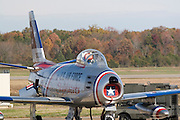 Arkansas, AR, USA, Airpower Arkansas 2006 was held at the Little Rock Air Force base November 2006 participation of the Air Force, Navy, National Guard and civilian aerobatics aviators. North American F-86 Sabre fighter