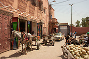 The Market at the Casbah of the Old City of Marrakesh, Morocco