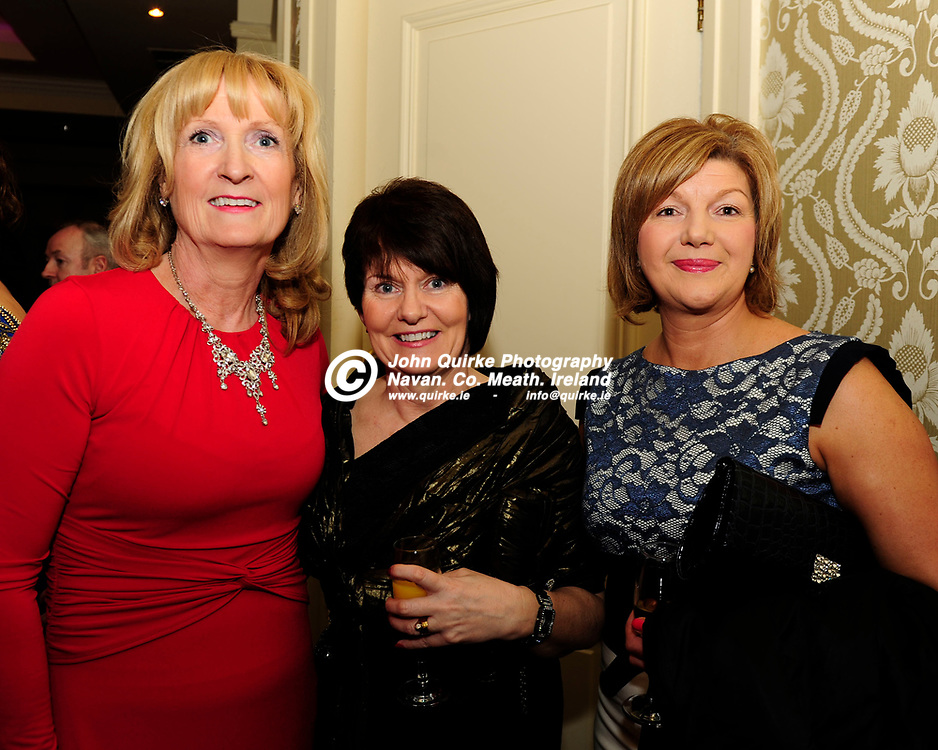 04-04-14. Meath Style Awards 2014 at the Headfort Arms Hotel, Kells.<br /> L to R: Mary McGuigan, Meath Chronicle. Olive Falsey and Maeve Sheridan, Meath County Council.<br /> Photo: John Quirke / www.quirke.ie<br /> ©John Quirke Photography, Unit 17, Blackcastle Shopping Cte. Navan. Co. Meath. 046-9079044 / 087-2579454.