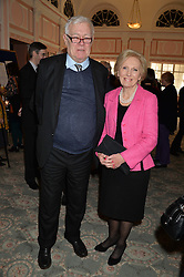 RICHARD INGRAMS and MARY BERRY at the Oldie Magazine's Oldie of The Year Awards held at Simpson's In The Strand, London on 4th February 2014.