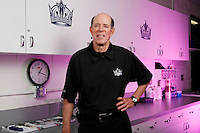 3 April 2007:  NHL Los Angeles Kings Head Athletic Trainer Pete Demers in his 38th year with the organization. He is one of the most respected NHL Athletic Trainers who has represented his country in several international hockey tournaments including the Olympics, World Championships and the World Cup of Hockey. Environmental Portrait in uniform.