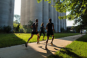 2018 August 25 - Runners at Chalco Hills and the Field Club Trail in Omaha for Lulu Lemon.