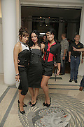 Fuel girls: Vanessa , Naomi and Amy, The BladeRun Send-off party. The Henry Moore Gallery SW7, Royal College of Art. 16 August 2006.  ONE TIME USE ONLY - DO NOT ARCHIVE  © Copyright Photograph by Dafydd Jones 66 Stockwell Park Rd. London SW9 0DA Tel 020 7733 0108 www.dafjones.com