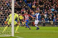 Atletico de Madrid's player Koke Resurrección and RCD Espanyol player Diego Lopez and Diego Reyes during match of La Liga between Atletico de Madrid and RCD Espanyol at Vicente Calderon Stadium in Madrid, Spain. December 03, 2016. (ALTERPHOTOS/BorjaB.Hojas)