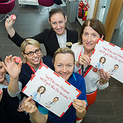 04.10. 2017.                   <br /> HEALTHCARE staff across the MidWest are taking part in a major vaccination programme to protect patients from flu this winter.<br />  <br /> UL Hospitals Group and HSE Mid West Community Healthcare this Wednesday joined forces to launch a flu campaign aimed at vaccinating thousands of healthcare workers in community, primary, mental health and acute hospital settings across Limerick, Clare and Tipperary. A national target of 40% uptake rate has been set by the HSE.<br /> <br /> Pictured at the launch were Peer Vaccinators, Margo Dunworth, CMM3 Neonatal, Margaret Carroll, Lobotomy, Catherine Flavin, Ber Murphy, operational Director Nursing and Siobhan Brosnan, Organ Donation Nurse.<br />  <br /> The HSE will next Monday, October 9th, launch its national flu campaign, with at-risk groups – including the over-65s; people with long-term chronic illnesses; pregnant women and residents of nursing homes and other longstay facilities – encouraged to get the vaccine from their family doctor or pharmacist. Picture: Alan Place