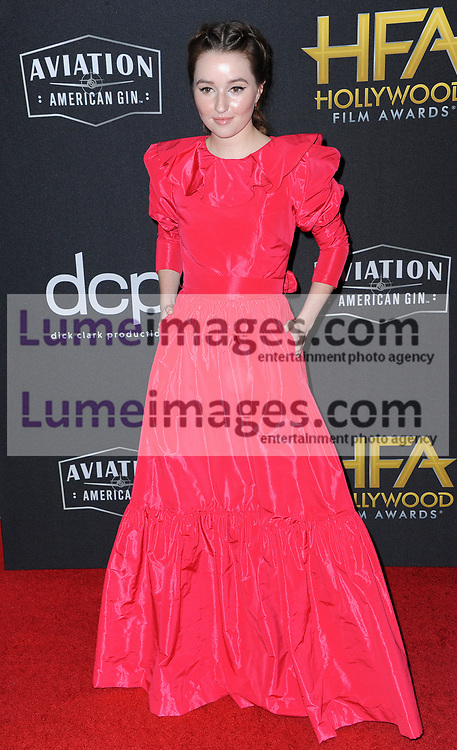 Kaitlyn Dever at the 23rd Annual Hollywood Film Awards held at the Beverly Hilton Hotel in Beverly Hills, USA on November 3, 2019.