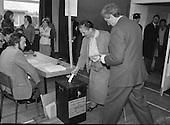 1981 - Garret Fitzgerald Votes In General Election.   (N81).