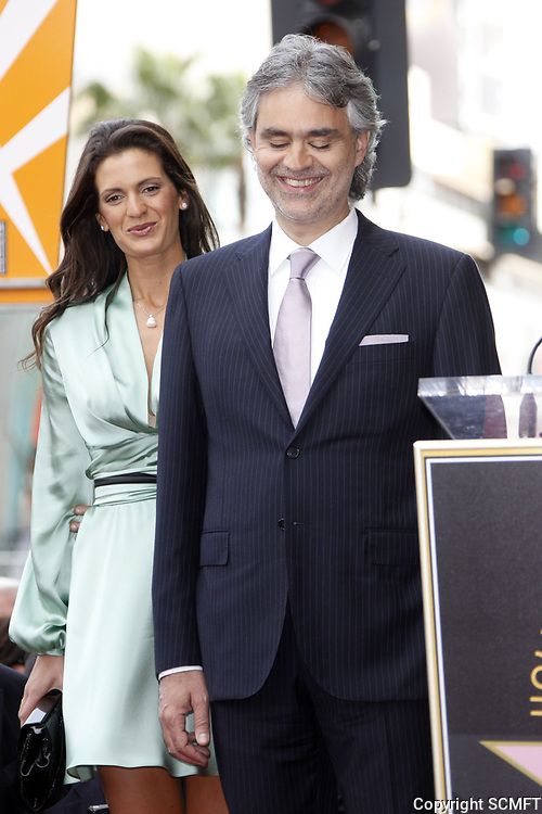3/2/3010 Veronica Berti Joins Andrea Bocelli at his Hollywood Walk of Fame ceremony
