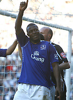 Photo: Steve Bond.<br /> Derby County v Everton. The FA Barclays Premiership. 28/10/2007. Yakubu celebrates