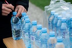 Water bottles marked due to covid-19 precaution during first practice session of NK Olimpija Ljubljana before the spring season of Prva liga Telekom Slovenije 2020/21, on January 7, 2021 in Sports park Stozice, Ljubljana Slovenia. Photo by Vid Ponikvar / Sportida