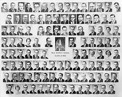 1962 Yale Divinity School Senior Portrait Class Group Photograph