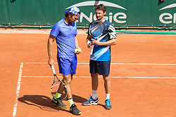 Carlos Moya, Juan Carlos Ferrero during French Tennis Open at Roland-Garros arena on June 07, 2017 in Paris, France. Photo by Nasser Berzane/ABACAPRESS.COM
