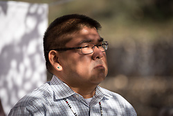 7 December 2019, Madrid, Spain: Rev. Glen Chebon Kernell, a north american indigenous person participates as people of faith gather in a 'Prayer for the Rainforest' as part of the Cumbre Social por el Clima, on the fringes of COP25 in Madrid, where faith-based organizations continue to urge decision-makers to take action for climate justice.
