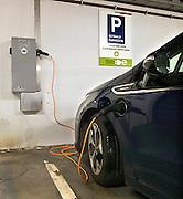 Nederland, Nijmegen, 11-11-2013In een parkeergarage staat een opel ampera aan de oplaadunit.Foto: Flip Franssen/Hollandse Hoogte