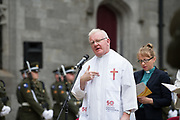 08/07/2018  repro  free: Canon Peter Rabbitte at The National Day of Commemoration Ceremony at NUI Galway in honour of all those  Irishmen and Irish Women who served in past wars or on Service with the UN.Photo:Andrew Downes, XPOSURE