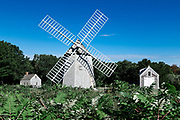 Old Higgins Farm windmill at Drummer Boy Park, Brewster, Cape Cod, Massachusetts, USA.