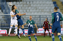 Kostas Fortounis of Greece vs Jaka Bijol of Slovenia during football match between National teams of Greece and Slovenia in Final tournament of Group Stage of UEFA Nations League 2020, on November 18, 2020 in Georgios Kamaras Stadium, Athens, Greece. Photo by BIRNTACHAS DIMITRIS / INTIME SPORTS / SPORTIDA